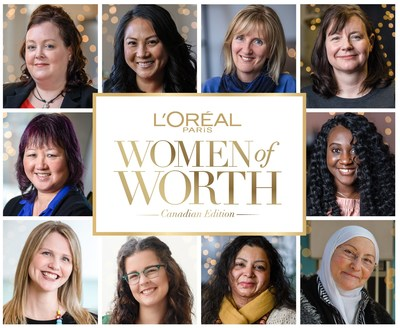 L'Oréal Paris Celebrates Canadian Humanitarians with Announcement of 2018 Women of Worth Honourees (CNW Group/L'Oreal Paris)