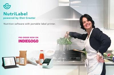 NutriLabel, nutrition software with portable label printer (PRNewsFoto/Diet Creator)