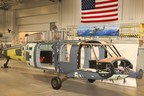 The first Sikorsky HH-60W Combat Rescue Helicopter as it enters final assembly at Stratford, Connecticut. The timing of final assembly supports the program's accelerated schedule and positions the aircraft's first flight for the end of this year, two months ahead of schedule. Image courtesy of Sikorsky, a Lockheed Martin Company.