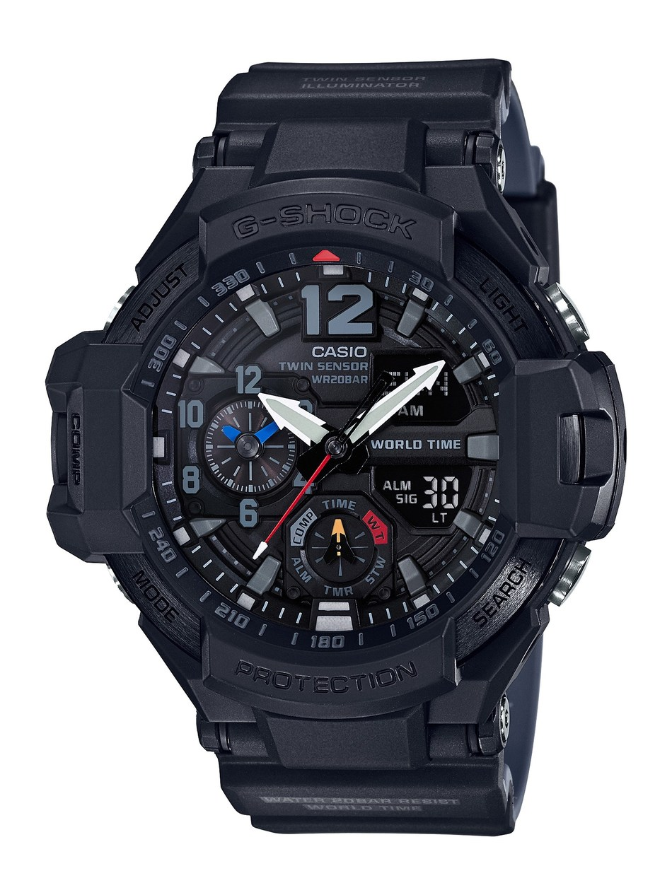 G-SHOCK's Black Out GRAVITYMASTER, the GA1100-1A1