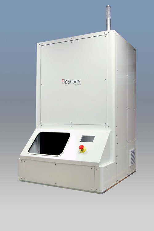 Teleplan, a leading lifecycle care solutions provider for technology products, unveils its unique objective grading tester 'Optiline', which can determine the physical and optical condition of any mobile phone surface (PRNewsfoto/Teleplan International N.V.)