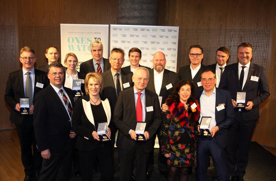 German National Winners awarded at the British Embassy in Berlin (PRNewsfoto/European Business Awards)