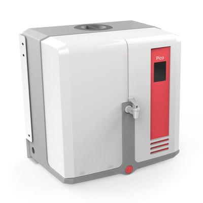 Le système d'eau pure tout-en-un Picotm offre la plus petite empreinte de sa catégorie et dispose d'un réservoir intégral de 35 litres.