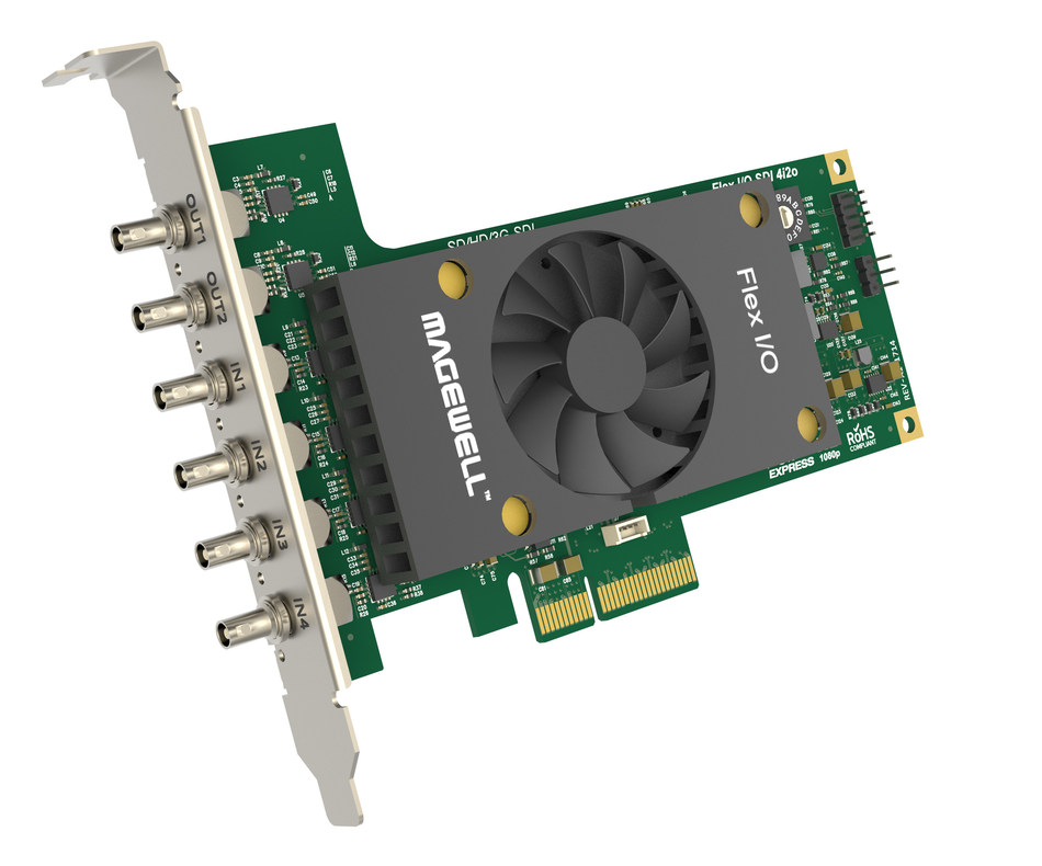 Magewell will showcase its Flex I/O series of input-output cards and launch a major new product line at the 2018 NAB Show.