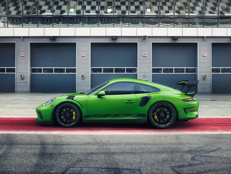 The Porsche motorsport department is presenting Weissach's latest treat at the Geneva Motor Show: the 911 GT3 RS with motorsport chassis and 520-hp, four-litre, high-revving naturally aspirated engine. (CNW Group/Porsche Cars Canada)
