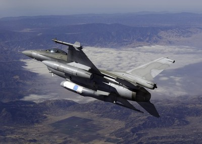 UTC Aerospace Systems DB-110 Airborne Reconnaissance System pictured onboard an F-16.