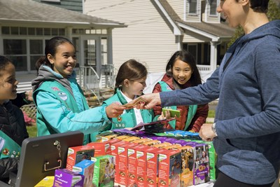 Southern Arizona Girl Scouts celebrating National Cookie weekend