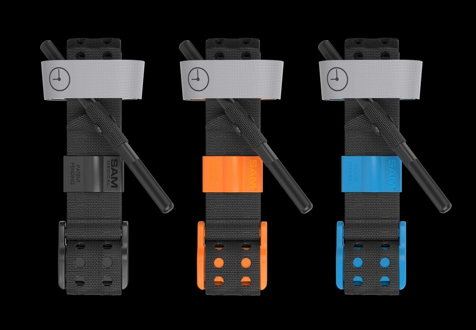 Tourniquets have evolved. Engineered for rapid application, SAM XT's innovative design requires fewer windlass turns, and enables easier, faster training and intuitive use. Meets MIL-STD 810G for durability. Now available in Hi-Viz Blue.