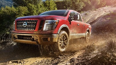 front side view of the 2018 Nissan Titan, which is now available at Jimmy Cleveland Nissan.