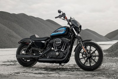 The new Harley-Davidson® Iron 1200™ is Dark Custom style with corner-cranking performance. The blacked-out, stripped down look makes a bold understatement. The nimble handling, trademark rumble, and 70s retro-vibe tank put an exclamation point on it.