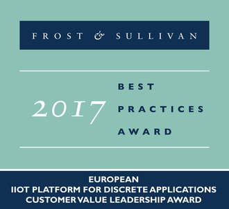 2017 European IIoT Platform for Discrete ApplicationsCustomer Value Leadership Award (PRNewsfoto/Frost & Sullivan)
