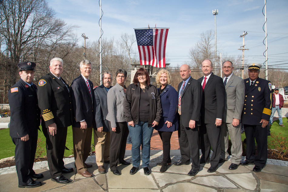 Speakers at the event, representing Station Fire Memorial Foundation, Phoenix Society for Burn Survivors, Common Voices, U.S. Fire Administration, National Fire Protection Association, National Fire Sprinkler Association, International Association of Fire Chiefs, and National Fallen Firefighters Foundation,
