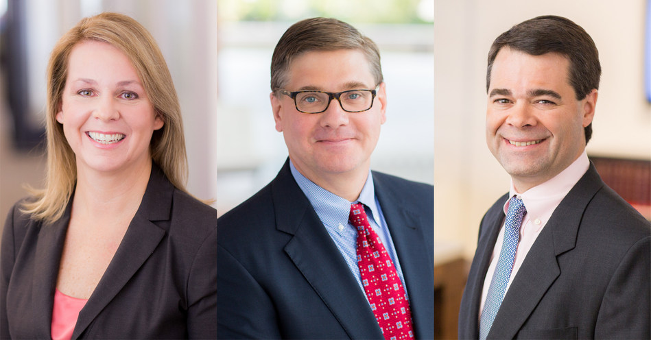 Miles & Stockbridge Executive Committee: Nancy Greene, chairman; Joe Hovermill, president and chief executive officer; and Chris Johnson, executive vice president