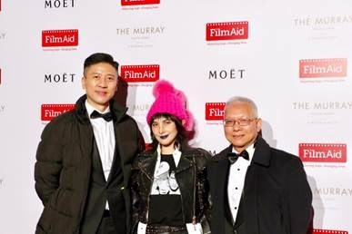 In this photo appearing from left to right: Philip Yan (AMTD), Josie Ho, Marcellus Wong (AMTD) (CNW Group/Niki Inc)