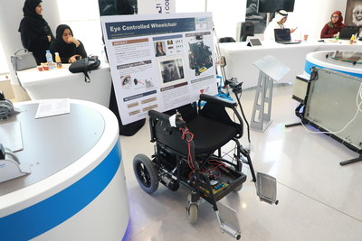 Eye-controlled wheelchair gives new hope to people suffering from paralysis (PRNewsfoto/Sharjah Government Media Bureau)