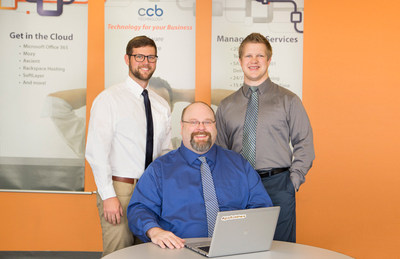CCB IT Services management left to right: Vice President of Services Logan McCoy, Service Desk Director Derek Matsche, Director of Services Jacob Turowski