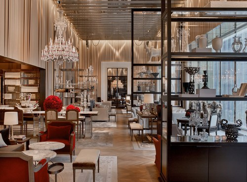 Baccarat Hotel New York earns the Forbes Travel Guide Five-Star award. Pictured here, the Grand Salon at Baccarat Hotel.