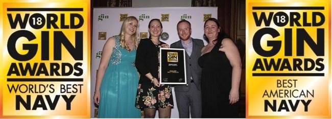 Nicole Hassoun Receiving Best World Gin Award