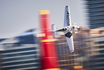 Michael Goulian of the United States performs during the finals at the first round of the Red Bull Air Race World Championship in Abu Dhabi, United Arab Emirates on February 3, 2018. // Andreas Langreiter / Red Bull Content Pool