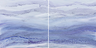 Ultra Violet I and II by Teodora Guererra, acrylic on canvas, 2018 (PRNewsfoto/Sorelle Gallery Fine Art)