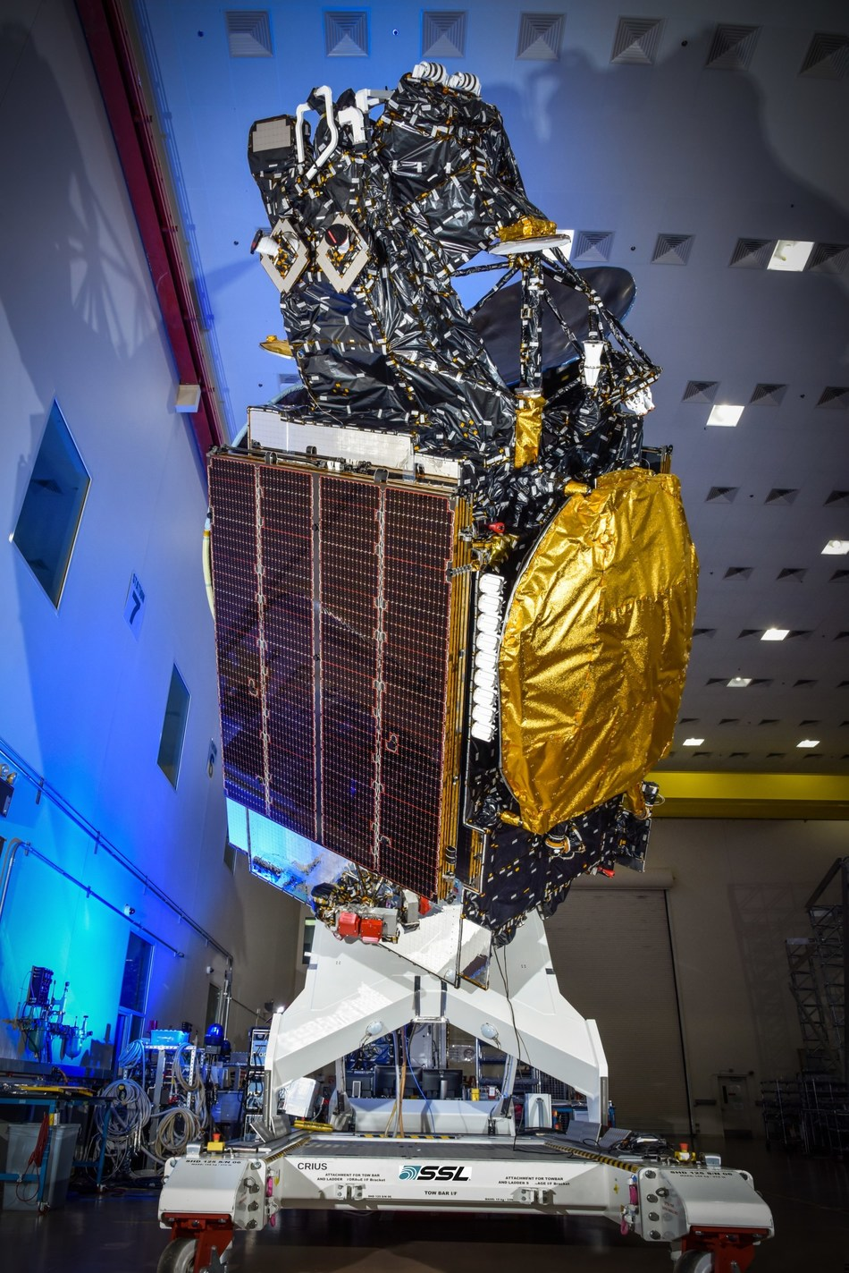 SSL-built Hispasat 30W-6 communications satellite was successfully launched by SpaceX. (CNW Group/Maxar Technologies Ltd.)