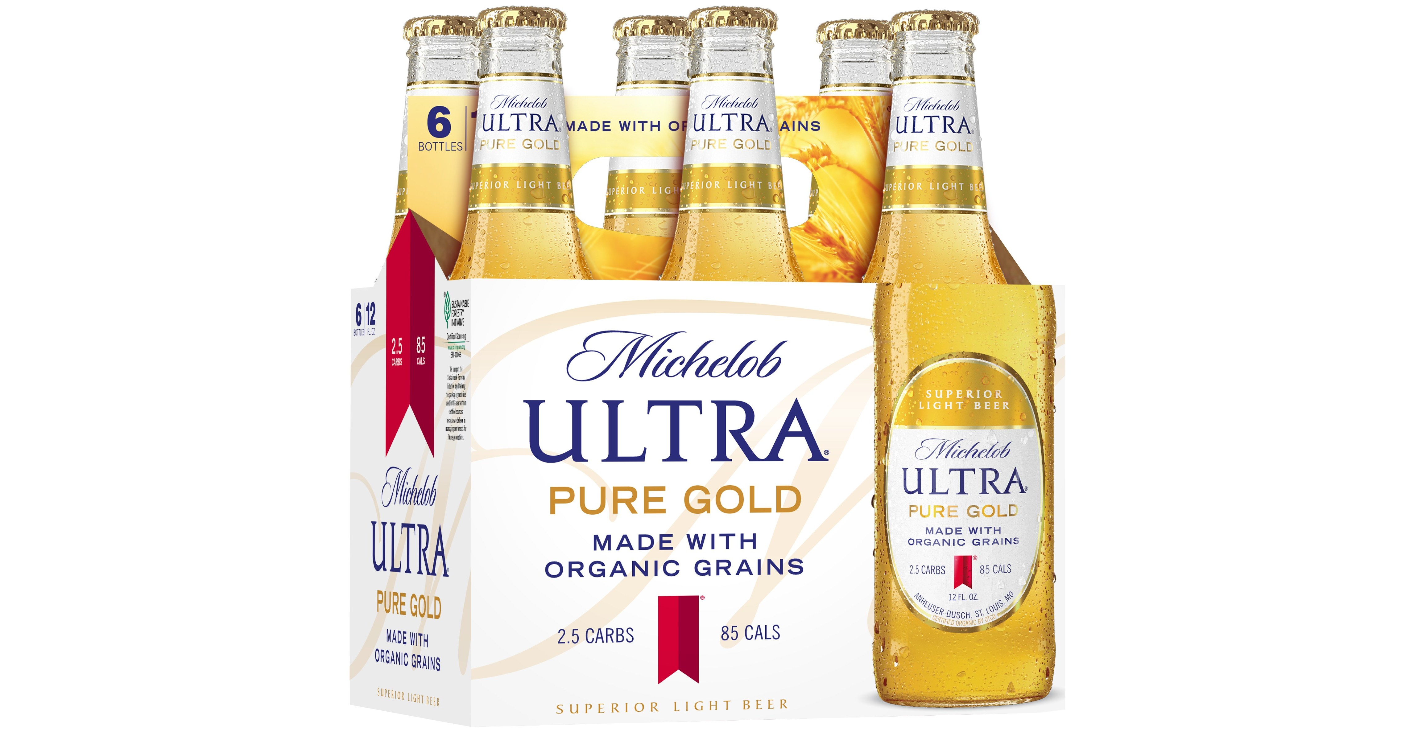 new michelob ultra pure gold is first superior light beer. Black Bedroom Furniture Sets. Home Design Ideas