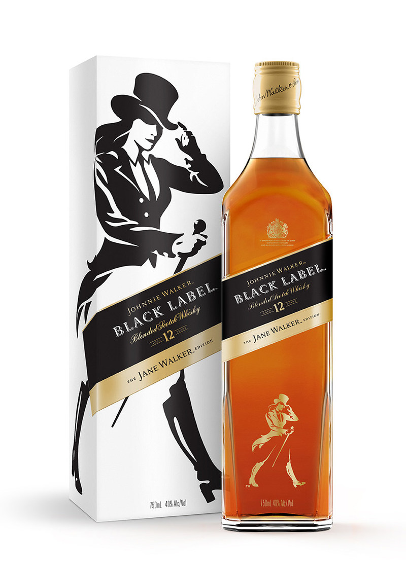 Johnnie Walker launches Johnnie Walker Black Label The Jane Walker Edition, donating $1 for every bottle made to organizations championing women's causes.