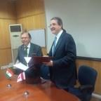 Left: Rajiv Sharma, Secretary, Science and Engineering Research Board (India) Right: Alejandro Adem, CEO and Scientific Director, Mitacs (Canada) (PRNewsfoto/Mitacs)