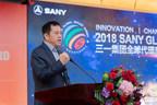 M. Xiang Wenbo, directeur du groupe SANY et président de SANY industrie lourde, prononce une allocution (PRNewsfoto/SANY)
