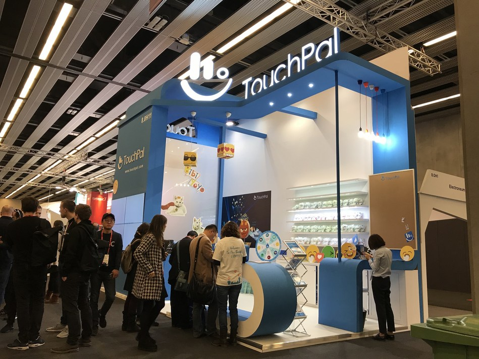 TouchPal's MWC 2018 booth