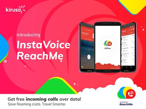 ReachMe users can receive incoming phone calls over data, for free.