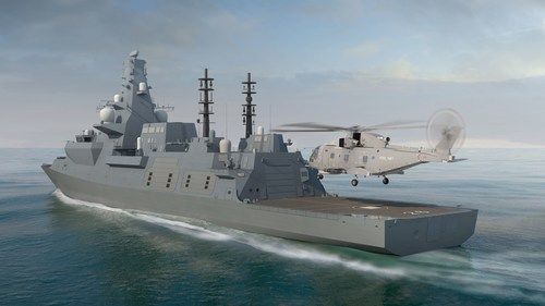 The new Type 26 'Global Combat Ship' designed and built by BAE Systems for the UK Royal Navy armoured by Plasan (PRNewsfoto/Plasan Sasa)