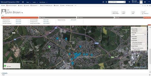See the power of maps in Microsoft Dynamics 365 with eMap (PRNewsfoto/MyCRM)