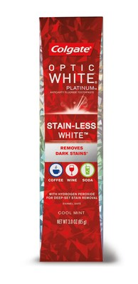 Nueva pasta dental blanqueadora Colgate® Optic White® Stain-Less White?