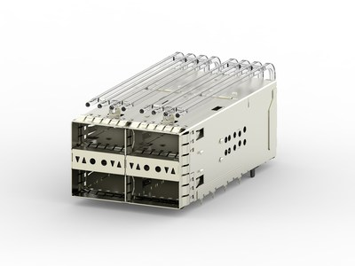 TE Connectivity's zQSFP+ Stacked Belly-to-Belly Cages support a single printed circuit board (PCB) architecture in each line card, saving significant costs.