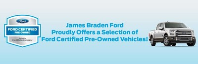 A wide selection of Certified Preowned Ford vehicles is available at James Braden Ford in Kingston, Ontario.