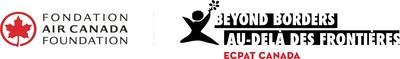 Logo : Fondation Air Canada & Au-delà des Frontières ECPAT Canada (Groupe CNW/ECPAT Canada)