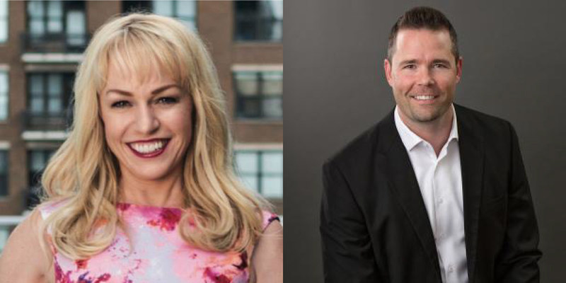 Rebecca Jensen, CEO & President, MRED (left) and Sam DeBord, Coldwell Banker Danforth (right) join the esteemed Board of Directors at California Regional MLS.