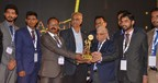Team Neron receiving Graham Bell Award (PRNewsfoto/Neron Informatics Pvt. Ltd)