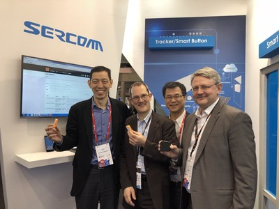 Leveraging Orange's LTE-M Network, Sercomm Introduces New Series of LTE-M IoT Devices: First from the left: James Wang, CEO of Sercomm; Second from the left: Olivier Ondet, SVP IoT Analytics, Orange Business; First from the right: Luc Savage, VP Enterprise IoT, Orange Business; Second from the right: Ben Lin, CTO of Sercomm