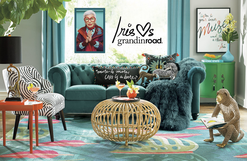 The legendary Iris Apfel and online retailer grandinroad launch exclusive home collection, Iris Loves grandinroad.