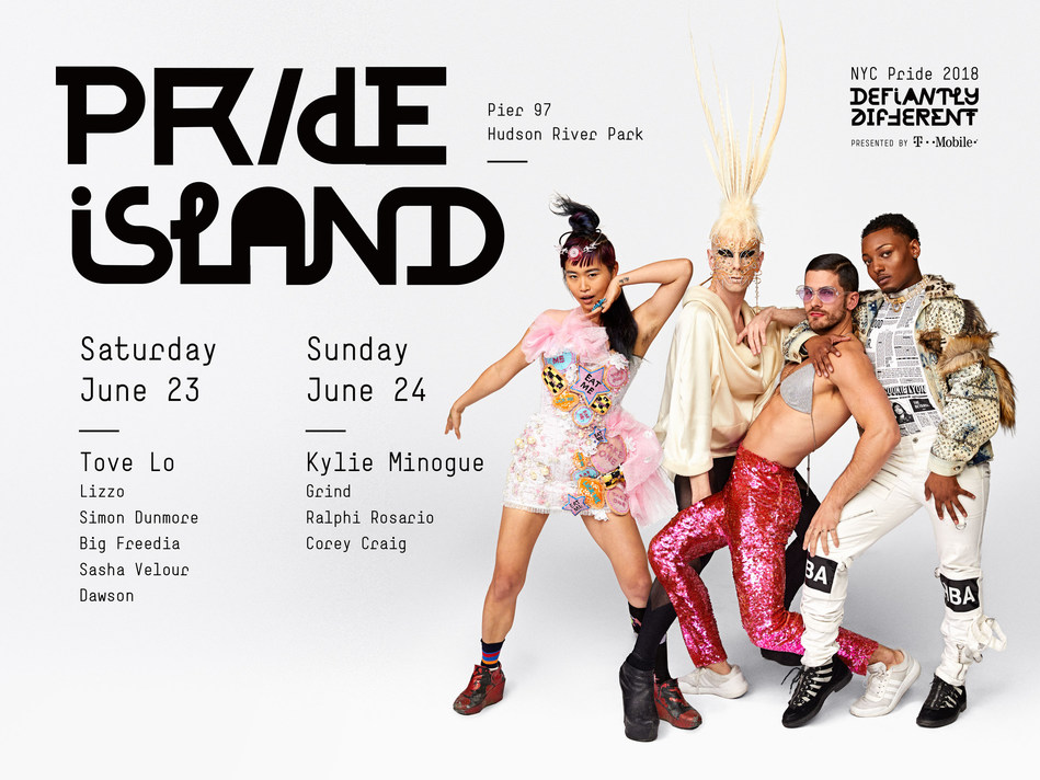 Kylie Minogue, Tove Lo, Lizzo, and Big Freedia to Perform at NYC Pride's Pride Island. (Photographed by Danielle Levitt)