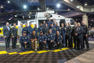 Sikorsky, a Lockheed Martin Company, today honored the Los Angeles County Fire Department for its search and rescue efforts and superior helicopter maintenance while battling numerous wildfires during the 2017-2018 fire season. Photo Credit: Dan Megna