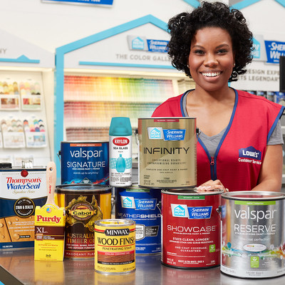 Lowe's and Sherwin-Williams announce an expanded partnership to improve the customer experience across the entire paint project.