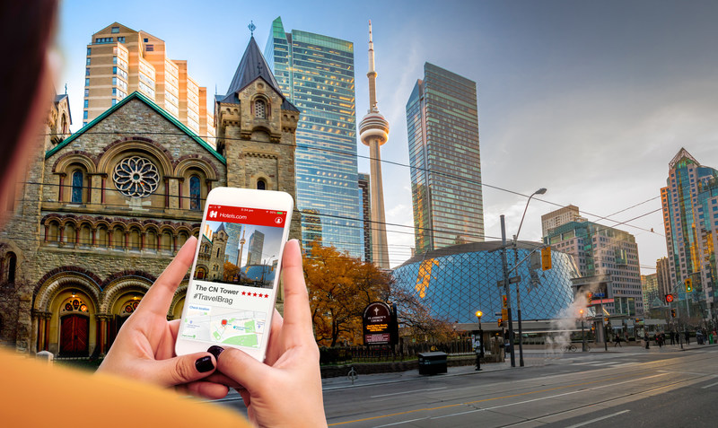 Travellers loved bragging about the CN Tower, which ranked number four on Toronto's #Travelbrag list from Hotels.com. (CNW Group/Hotels.com)