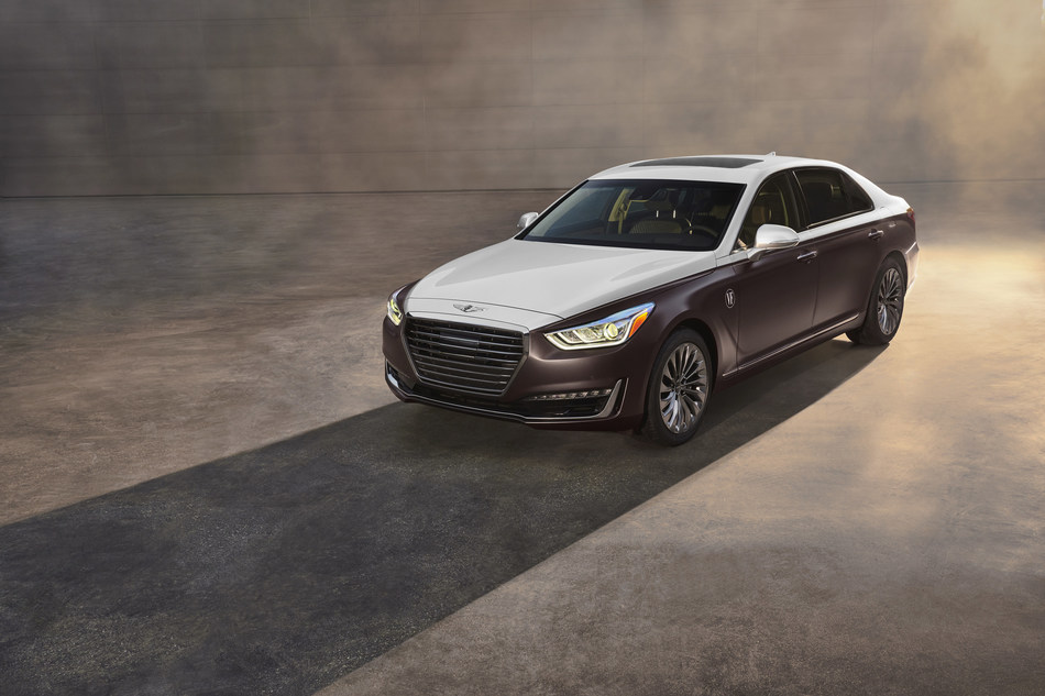 2019 Genesis G90 Vanity Fair Special Edition - A Touch of Sensuality: Finished in warm light silver and matte cocoa brown, this G90 epitomizes a cause for celebration.
