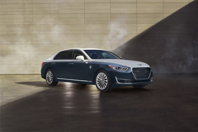 2019 Genesis G90 Vanity Fair Special Edition - Refined Understatement: This G90 in dark blue and matte white appends a modern and fresh point to the collection.