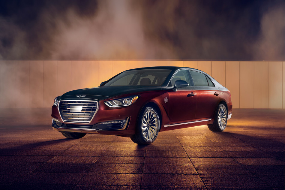 2019 Genesis G90 Vanity Fair Special Edition - The Ruler: This brick-red and gray G90 demonstrates a dynamic approach to the Genesis color and trim philosophy.