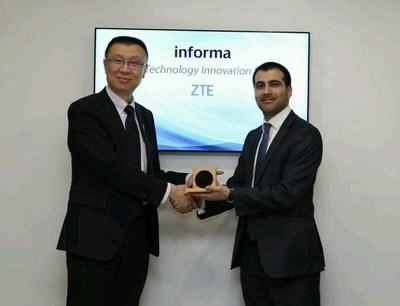 ZTE a remporté le prix de la « meilleure innovation technologique pour la 5G » lors du MWC 2018 (PRNewsfoto/ZTE Corporation)