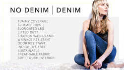 No Denim Denim™ world's 1st sustainable denim with patented body contouring launches on Kickstarter